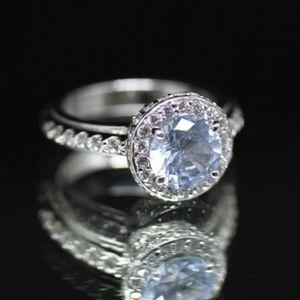 Jewelry - 925S Tacori Caribbean Blue Topaz Engagement Ring